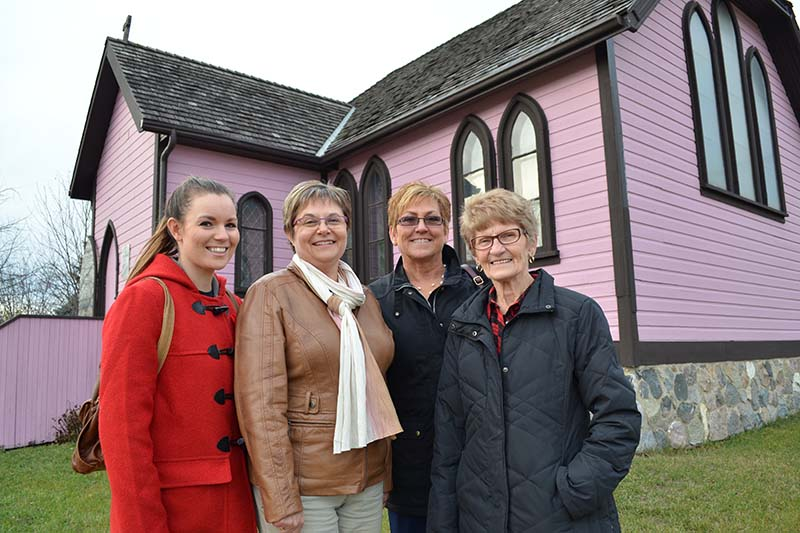 Volunteers gather at The Plum Museum, Souris, MB