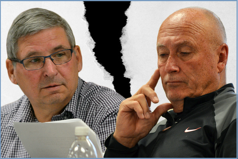 photo shows Oakland-Wawanesa mayor Kreklewich and councillor Rome (graphic Southwest Post)