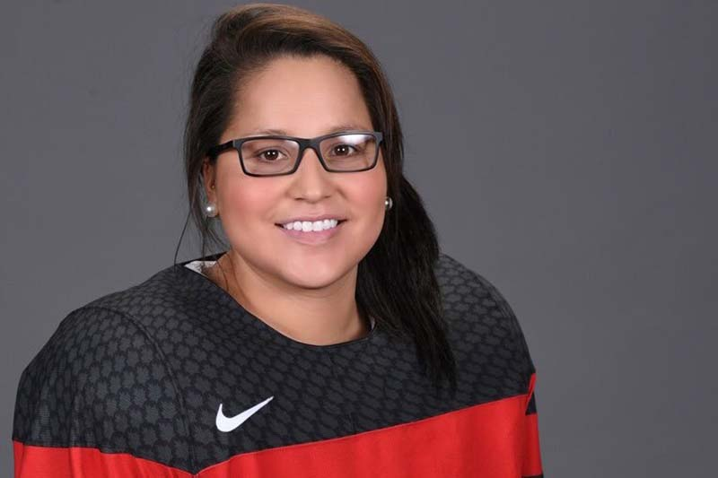photo shows Brigette Lacquette, who played with the Hartney MB based Westman Wildcats in 2008-2009, captured Olympic silver this week in women's hockey (photo Brigette Lacquette)