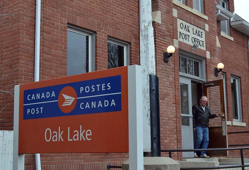 photo shows Oak Lake post office (photo Glen Kirby)